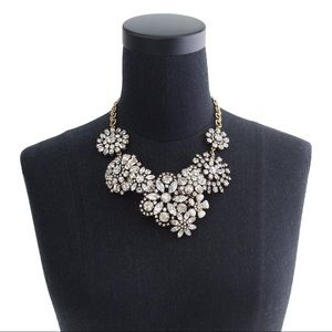 J Crew Crystal Floral Statement Necklace